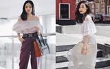 Chưa đến hè mà các quý cô châu Á đã sớm khoe vai trần trong street style tuần qua