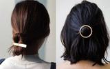 Cặp tóc kim loại - món phụ kiện nhỏ xinh tô điểm tuyệt vời cho mái tóc nàng công sở