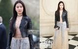Lưu Diệc Phi diện đồ cá tính nhưng bị chê xuống sắc khi dự show Dior tại Tuần lễ thời trang Paris