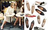 Giày bệt mũi nhọn: theo chân quý cô từ công sở tới tiệc tùng