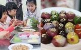 Ngắm các bé hào hứng nặn bánh trôi xinh xinh cho ngày Tết Hàn thực