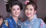 Hoa hậu Mỹ Linh, Ngọc Hân đọ sắc trong trang phục kimono
