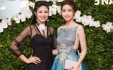 Hoa hậu Đỗ Mỹ Linh xinh như công chúa, tỏa sắc bên cạnh đàn chị Ngọc Hân