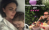 David Beckham vào bếp tỉ mẩn làm bánh mừng sinh nhật con gái nhỏ