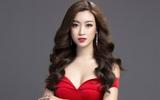 Mỹ Linh diện đầm đỏ hở vai đẹp kiêu sa sau khi dẫn đầu bình chọn online