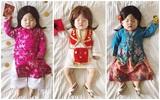 Tranh thủ con ngủ trưa, bà mẹ phù thủy hóa trang cho con gái chu du khắp thế giới