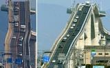 Giật mình với cây cầu nhìn như dựng đứng thách thức các tay lái lụa