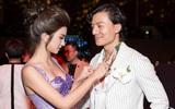 Kim Tuyến diện váy cúp ngực gợi cảm, sánh đôi trai đẹp trên thảm đỏ
