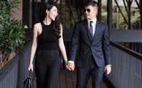 Vợ chồng Thủy Tiên - Công Vinh diện đồ đôi, tay trong tay tình tứ