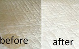 Tấm nệm ố vàng nhiều năm cũng trắng tươm thơm phức sau khi được phù phép bằng thứ nước thần này