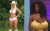 Chán màu da trắng, người phụ nữ có bộ ngực
