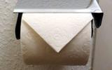 Nhà vệ sinh công cộng bên Nhật thường có cuộn giấy gấp lại như thế này, bạn hiểu ý nghĩa của nó không?