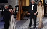Bà Melania Trump xinh đẹp nổi bật trong bữa tiệc tối trước ngày chồng nhậm chức Tổng thống