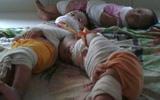 Lại xuất hiện hình ảnh 3 trẻ nhỏ bị bịt miệng, trói chân tay như xác ướp tại trường mầm non gây phẫn nộ