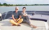 Lý Nhã Kỳ đón gia đình nhà sản xuất phim nổi tiếng đến biệt thự và du thuyền của mình ăn Tết