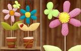 Cách làm chậu hoa vải siêu dễ trang trí phòng cực xinh