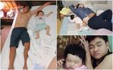 """Các mẹ thi nhau khoe ảnh chứng minh mình """"đẻ thuê"""", đến dáng ngủ con cũng giống bố như đúc"""