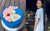 Tăng Thanh Hà lại khiến fan trầm trồ vì khả năng làm bánh kem như đầu bếp chuyên nghiệp