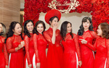 Phủ nhận chuyện mang thai, nhưng cô dâu Diệp Lâm Anh lại lộ vòng 2 lùm lùm trong ngày đón dâu