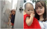 Bức ảnh con gái mè nheo đòi chui vào nhà vệ sinh cùng mẹ tưởng hài hước, nhưng câu chuyện phía sau khiến nhiều người rơi lệ