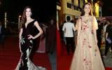 Hoa hậu Hoàn vũ 2008 khoe vẻ đẹp tuyệt sắc, Mai Phương Thúy diện váy như công chúa trên thảm đỏ chung kết HHHV VN