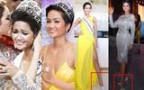 Kể từ khi đăng quang, từ Hoa hậu H'Hen Niê cho đến 2 Á hậu Hoàn vũ cứ mải miết dùng lại