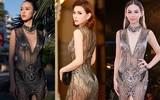 Đụng hàng với nhiều người đẹp khác khi diện đầm xuyên thấu mặc, Thu Thủy lộ nội y kém duyên hơn hẳn