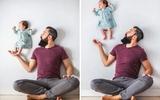 Lạ mắt những bức ảnh bố và con gái không hề qua photoshop