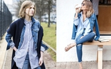 5 cách diện áo khoác denim thật chuẩn mốt trong mùa lạnh năm nay