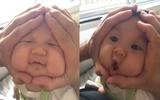 Những em bé Nhật Bản có gương mặt hình cơm nắm đốn tim các mẹ