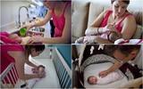 Một ngày quay cuồng với bỉm sữa của gia đình có em bé mới sinh