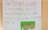 Quá đáng yêu với bức thư xin lỗi chủ cửa hàng của cô bé 5 tuổi