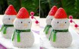 Không cần lò nướng, làm bánh hình người tuyết đẹp mĩ mãn!