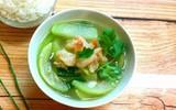 Canh bầu nấu với tôm: Món ăn ngọt ngon mát ruột ngày hè