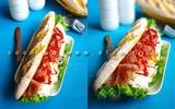 Bữa sáng siêu tốc với bánh mỳ kẹp hấp dẫn