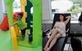 Cận cảnh chỗ ngủ nghỉ, khu vui chơi trẻ em miễn phí ở nhà ga sân bay Tân Sơn Nhất
