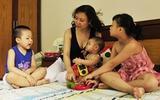 Khoe nhà mình: Nhà con vui lắm vì có 3 chị em