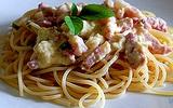 Spaghetti thịt xông khói - món ngon nước Ý