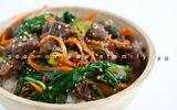Ngon lạ bò xào rau củ kiểu Hàn Quốc