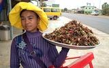 Côn trùng rán thách thức lòng can đảm thực khách khi đến Campuchia