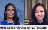 Clip Suboi được CNN phỏng vấn sau khi thể hiện khả năng rap trước Tổng thống Obama
