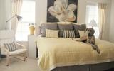 Trang trí phòng ngủ cực cá tính với bộ đôi vàng - xám