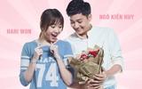 Hari Won nhí nhảnh nhận quà 20/10 từ Ngô Kiến Huy