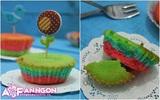 Thêm sắc màu cho Tết với bánh cupcake cầu vồng