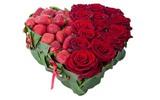 Cắm hoa hình trái tim lãng mạn tặng nửa kia!