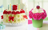 Cách cắm hoa hình bánh sinh nhật cực bắt mắt