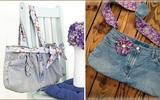 Dễ dàng may túi xách cá tính từ quần jean cũ