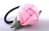 Làm hoa ruy-băng trang trí dây buộc tóc thật xinh