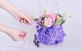 Hướng dẫn cắm hoa hồng thành giỏ hoa xinh xắn