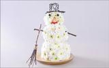 Cách cắm hoa cúc thành người tuyết thật đẹp đón Noel
